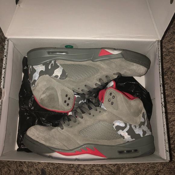 "low priced 76e2c dd798 Jordan 5 "" Camo/Bape 3M""Size 14"